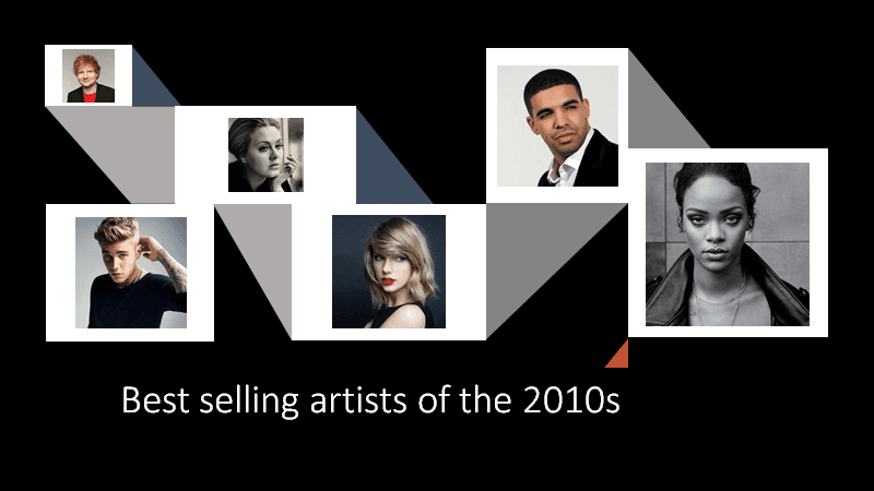 Best selling artists of the 2010s cover